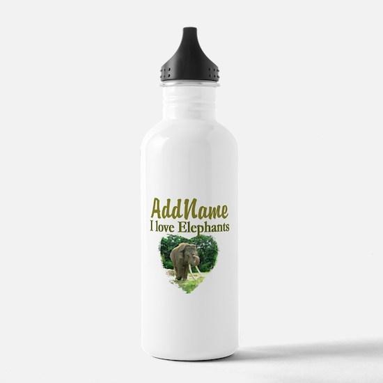 LOVE ELEPHANTS Water Bottle