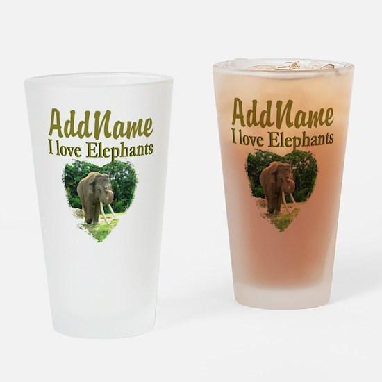 LOVE ELEPHANTS Drinking Glass