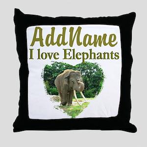 LOVE ELEPHANTS Throw Pillow