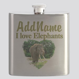 LOVE ELEPHANTS Flask