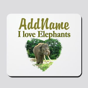 LOVE ELEPHANTS Mousepad