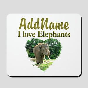 LOVE ELEPHANTS Mousepad