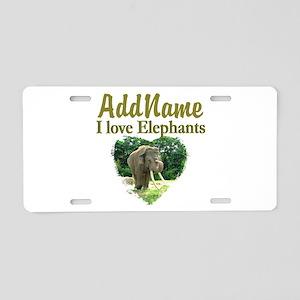 LOVE ELEPHANTS Aluminum License Plate