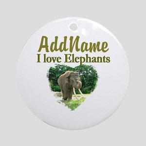 LOVE ELEPHANTS Ornament (Round)