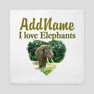 LOVE ELEPHANTS Queen Duvet