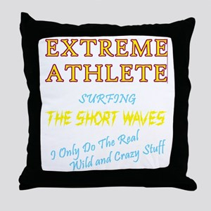 SURFING SHORT-WAVES Cafe For Dark Throw Pillow