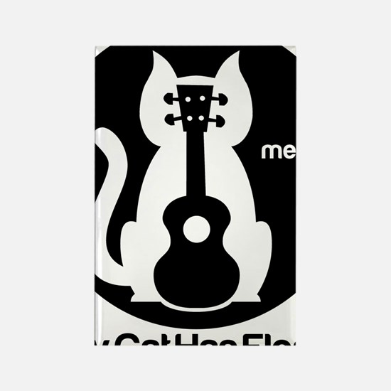 My Cat Has Fleas Ukulele Rectangle Magnet