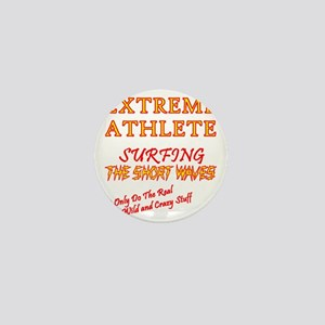 SURFING SHORT-WAVES Red Mini Button