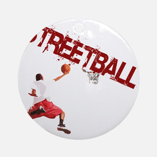 Basketball_Streetball_dunk Round Ornament