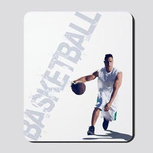 basketball_dribble_wht (2) Mousepad