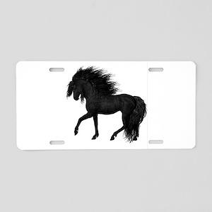 Black Horse Art_tra Aluminum License Plate