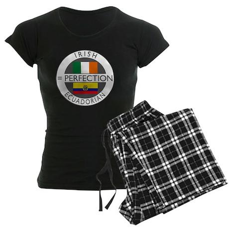 irish equadorian flags round Women's Dark Pajamas