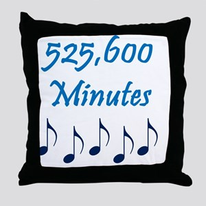 525600 Minutes Throw Pillow