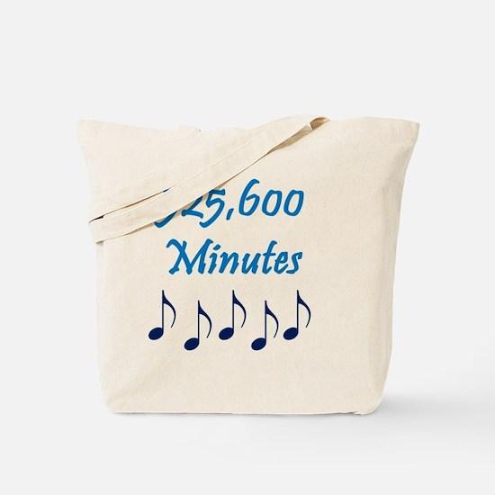 525600 Minutes Tote Bag