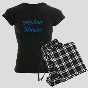 525600 Minutes Women's Dark Pajamas