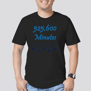 525600 Minutes Men's Fitted T-Shirt (dark)