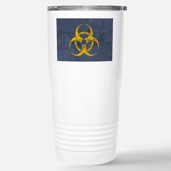 distressedBiohazardLP Stainless Steel Travel Mug