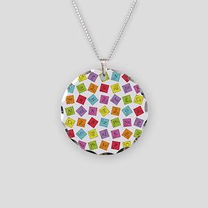 periodic_sq_1 Necklace Circle Charm
