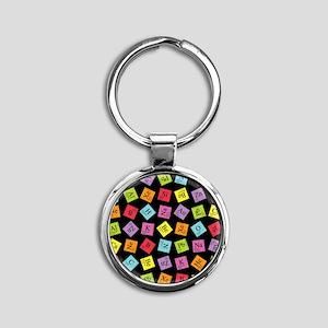 periodic_3 Round Keychain