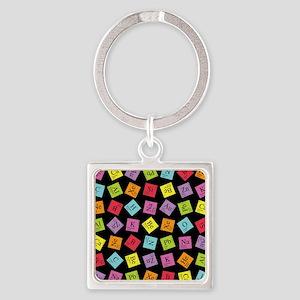 periodic_3 Square Keychain