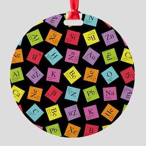 periodic_3 Round Ornament