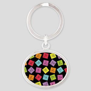 periodic_3 Oval Keychain