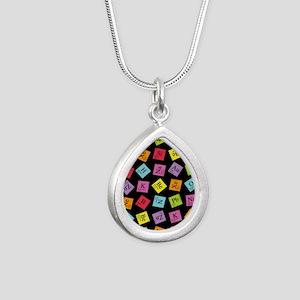 periodic_3 Silver Teardrop Necklace
