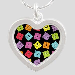 periodic_3 Silver Heart Necklace