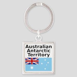 Antarctica1-WHITE Square Keychain