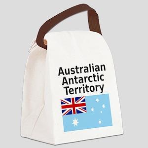 Antarctica1-WHITE Canvas Lunch Bag