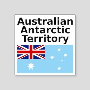 """Antarctica1-WHITE Square Sticker 3"""" x 3"""""""