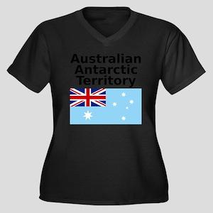 Antarctica1- Women's Plus Size Dark V-Neck T-Shirt