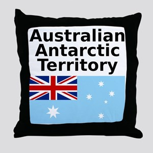 Antarctica1-WHITE Throw Pillow