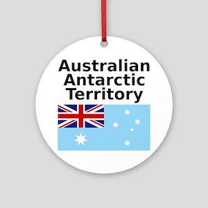 Antarctica1-WHITE Round Ornament