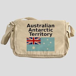 Antarctica1-WHITE Messenger Bag