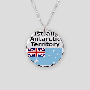 Antarctica1-WHITE Necklace Circle Charm