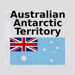 Antarctica1-WHITE Throw Blanket