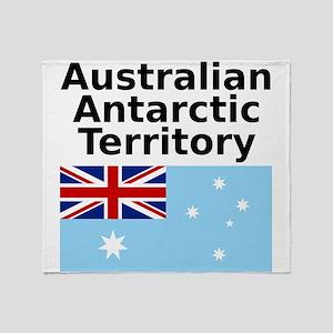 Antarctica1-WHITE Throw Blanket
