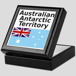 Antarctica1-WHITE Keepsake Box