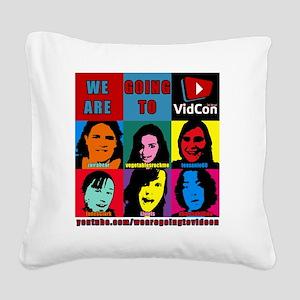 VidConWarholTShirt Square Canvas Pillow