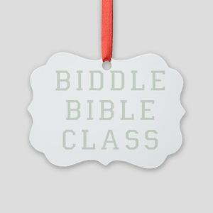 Biddle Bible Class Dark Picture Ornament