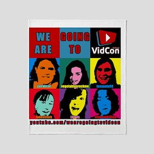 VidConWarholTShirt Throw Blanket