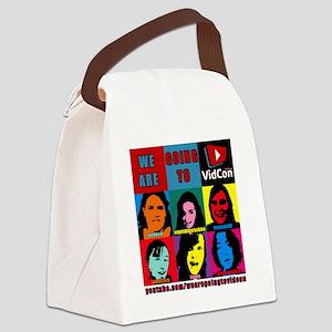 VidConWarholTShirt Canvas Lunch Bag