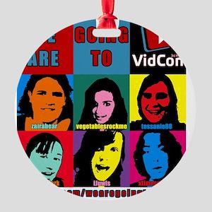 VidConWarholTShirt Round Ornament
