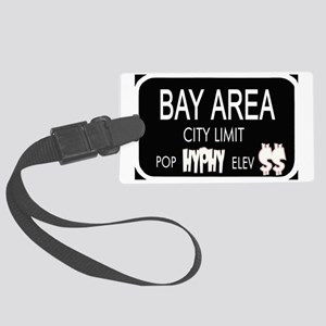 Bay Area City Limits - T-Shirt Large Luggage Tag