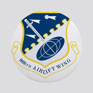 908th Airlift Wing Round Ornament