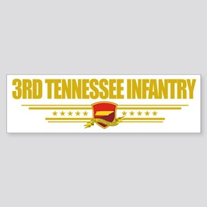 3rd Tennessee Infantry (Flag 10)  Sticker (Bumper)