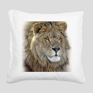 lion-portrait-t-shirt Square Canvas Pillow
