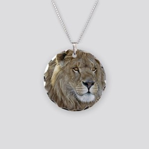 lion-portrait-t-shirt Necklace Circle Charm
