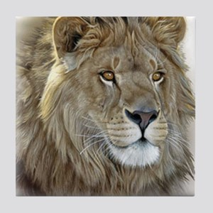 lion-portrait-t-shirt Tile Coaster